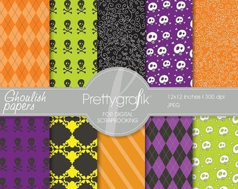 80% OFF SALE Halloween digital paper, commercial use, scrapbook papers, background - PS555