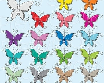 80% OFF SALE 18 buttefly clipart commercial use, vector graphics, digital clip art, digital images  - CL498