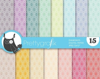80% OFF SALE diamond harlequin digital paper, commercial use, scrapbook papers, background - PS637