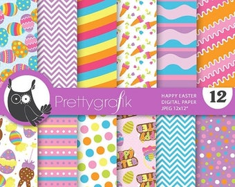 80% OFF SALE Happy easter paper digital papers, commercial use, scrapbook papers, background - PS703