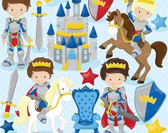 80% OFF SALE Fairytale prince clipart for scrapbooking, knight clipart commercial use, vector graphics, digital clip art - CL771