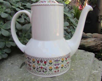 Royal Doulton England Fireglow Coffee Pot