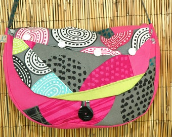 Fabric Collection Lorna Patchwork Messenger bag