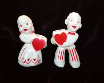 Valentine Candy Containers Hard to Find Pair