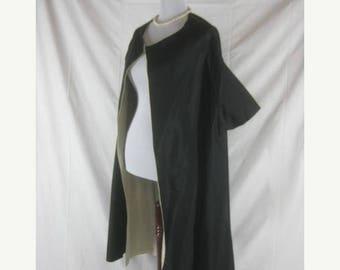 On sale Vtg 40s 50s Black Womens Vintage Satiny Swing Coat Cape
