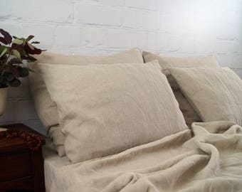 Linen bedding( 100%  Linen ) natural linen bedding, , prewashed linen