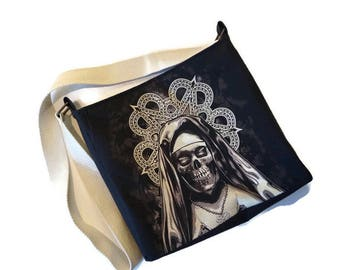 Black Veil Brides Bag • Upcycled Black Veil Brides Tshirt • Crossbody Bag • Shoulder Bag • Recycled Tshirt • Black Veil Brides Gift