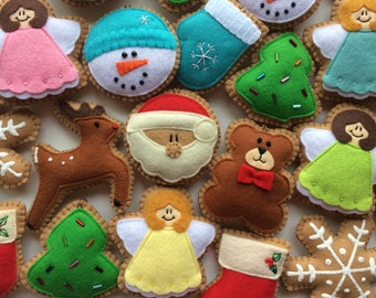 Fabulous Felt Christmas Ornaments/ Christmas Ornaments/Christmas Decorations/Christmas Cookies/Felt Christmas Decorations/Felt Ornaments