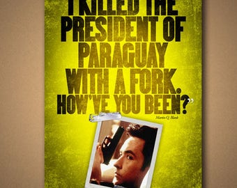 """Grosse Pointe Blank """"Fork"""" Quote Poster"""