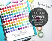 Planner Cover, Binder Cover, Printable Cover, Printable Planner, daily planner, teacher planner, student planner, recipe book