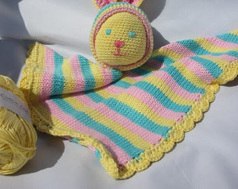 baby blanket in the shape of rabbit made of cotton (2)-