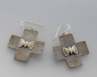 Large Shibushi Cross Earrings