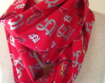 St. Louis Cardinals Glitter Lightweight Cotton/Blend Infinity Scarf