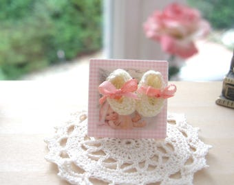 dollhouse baby doll shoes knitted nursery shop 12th scale miniature