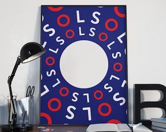 SOL (Modern Wall Art, Typographic Print, Modern Art Print, Graphic Print)