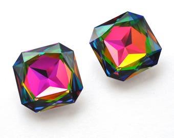 Swarovski 4675  Vitrail Medium 23mm Square Octagon Crystal 1 Piece