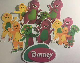 Barney and Friends Die Cuts Qty: 8