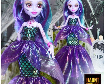 """Monster Doll Haunt Couture HALLOWEEN """"Sea Witch"""" high fashion doll clothes 