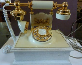 Vintage French Style Rotary Phone//Victorian Style//Princess Style Rotary Phone