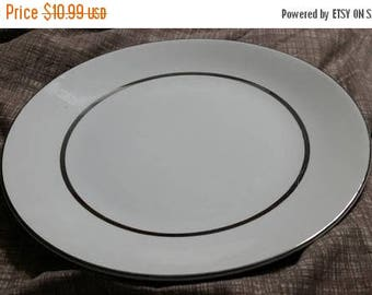 On Sale Salem China International Ironstone Silver Elegance 10 inch Dinner or Chop Plate Made in Salem England 1968 Dish