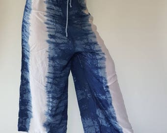 Rayon ROPE tie dye pants, Really soft pants with elastic waistband