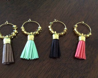 Wine Glass Markers with Tassel