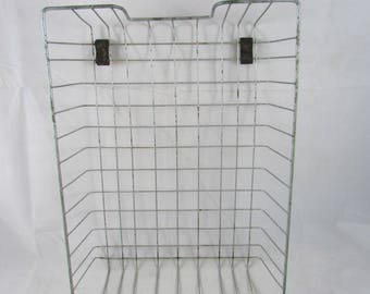 Wire Basket Metal Desk Paper Organizer Tray Mid Century Industrial
