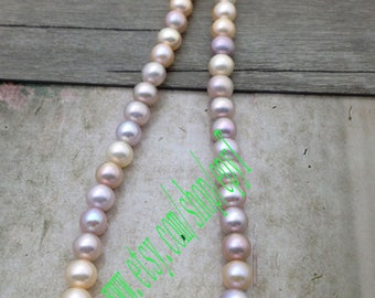 39.5cm length Top quality 8.5-9.2mm,near round/round natural multicolor freshwater pearl necklace Strand,freshwater pearl Beads String,eTr28