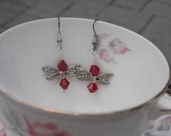 Red Fairy Earrings