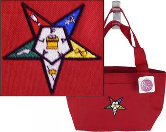 Eastern Star Cooler Freemason Freemasonry Lunch Tote Custom Embroidered