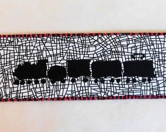 Train Fabric Bookmark
