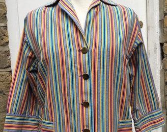 Early 60s Beatnik Mod candy striped cotton top Brighton Rock chic
