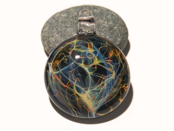 Blown Glass Pendant - Rainbow Neuron - Neurology Gift - Trending Now Art - Science Jewelry - Brain - Best Seller - Necklace - Neuroscience