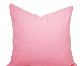 15% OFF SALE Two Baby Pink Pillow Covers - Solid Pink Pillows - Pink Throw Pillows - Nursery Pillows - Nursery Decor - Baby Pink Pillows - S