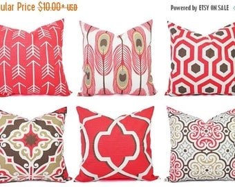 15 off sale coral throw pillow cover coral pillow covers coral and brown
