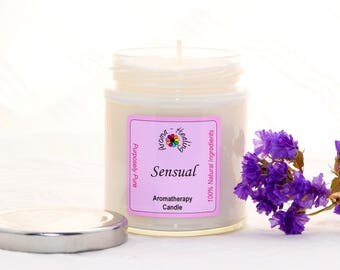 Sensual Soy Wax Candle | Aphrodisiac Candle | Natural Soy Candle | Best Smelling Candles | Ylang Ylang Candle