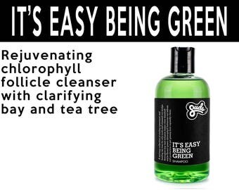 It's Easy Being Green Shampoo. Fair Trade Organic Vegan Cruelty-Free Cosmetics. 5% of Proceeds Proudly Go To Grassroots Charities