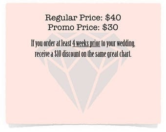 SALE! Wedding seating chart