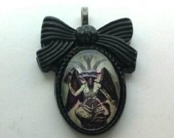 Bow Baphomet Necklace Pendant