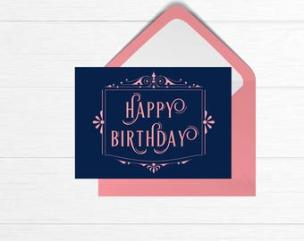 Ornate Birthday Card