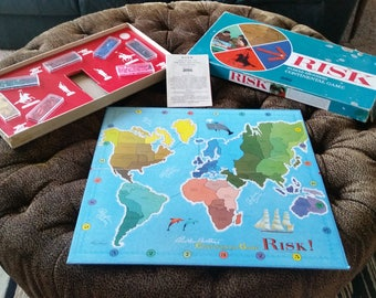 Vintage 1959 1963 MidCentury Parker Brothers Risk Continental Board Game Plastic Pieces