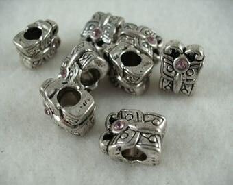Metal bead, 8 pieces  (923)