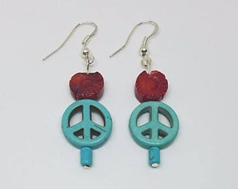 Earrings - Turquoise Peace