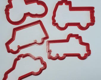 Vehicle Cookie Cutter Set