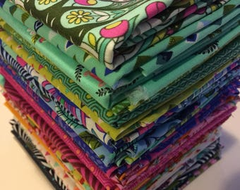 Tula Pink Fabric Slow & Steady - 25 Piece Collection FreeSpirit Fabric  - 100% Quality Cotton -25 pc FQ Yd Bundle
