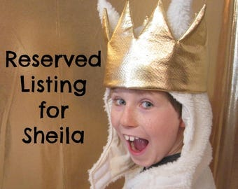 Reserved Listing for Shelia / Where the Wild Things Are inspired boys costume sizes,4-5, 6-8 ,10-12