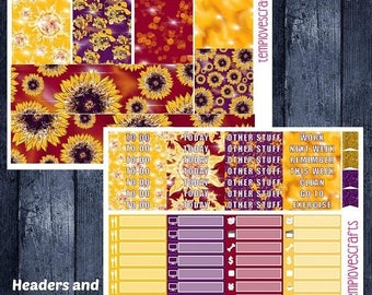 Weekend Sale Sunflower Vibes Set for Erin Condren Life Planner