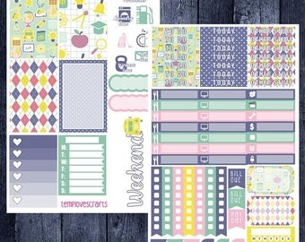Weekend Sale School Days Kit for Happy Planner
