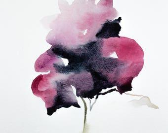 iris no. 12 . original watercolor painting