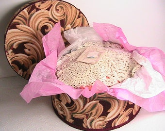 Doilies, Large Lot of Crocheted Doilies, Long Runners, Square, Round, Assorted Sizes, Vintage Crocheted Doilies, Lot of 13 in Beautiful Box